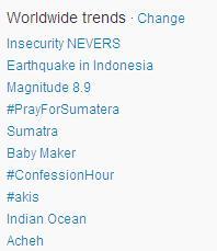 Gempa di Sumatra 11 April 2012