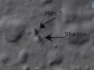 Man shadow at Moon