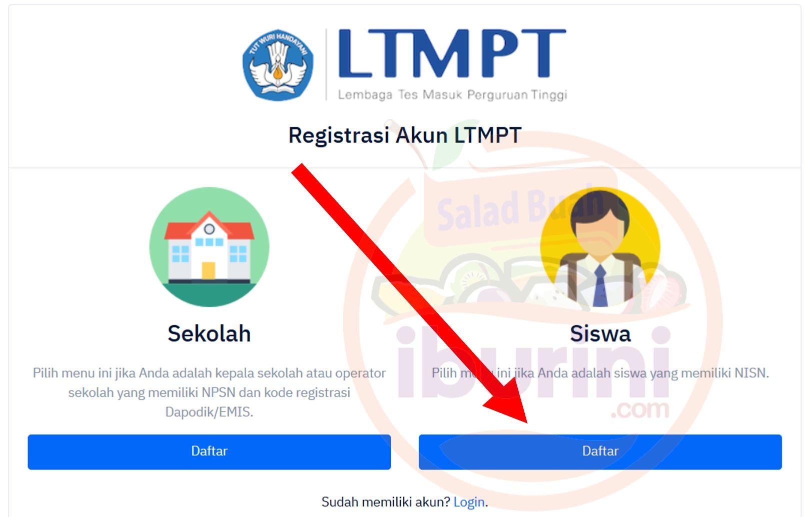 Mendaftar sebagai Siswa